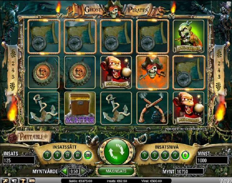 3 tiradas gratis en Ghost Pirates maquinas tragamonedas de 50 lineas-596865