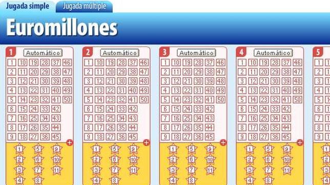 Jugadas gratis sin deposito sorteo de Euromillones-857235