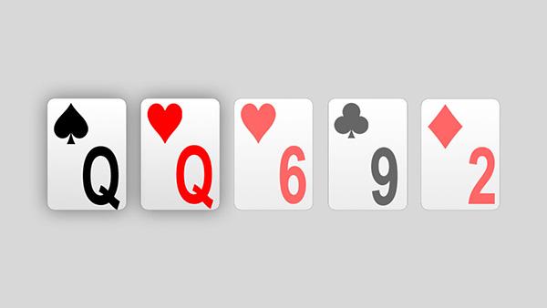 Poker manos juego Limpio-530783