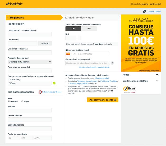 Betfair bono 100€ de ingreso apuestas deportivas-718418