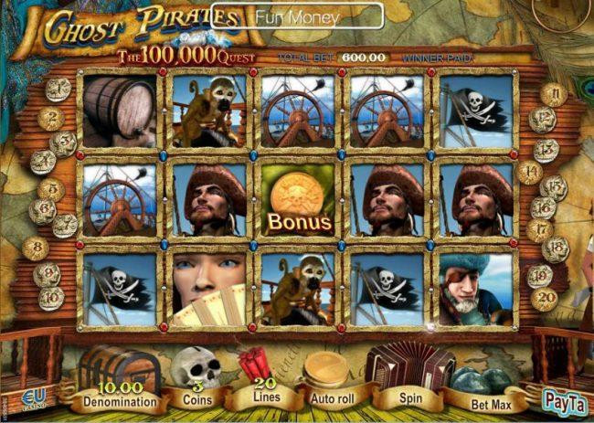3 tiradas gratis en Ghost Pirates maquinas tragamonedas de 50 lineas-943507