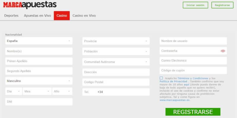 Casinos que te regalan dinero por registrarte marca apuestas Real Madrid-605846