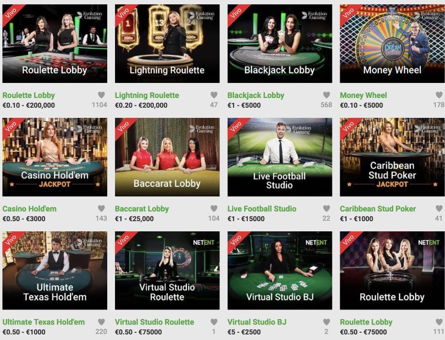 Live dealer blackjack casino