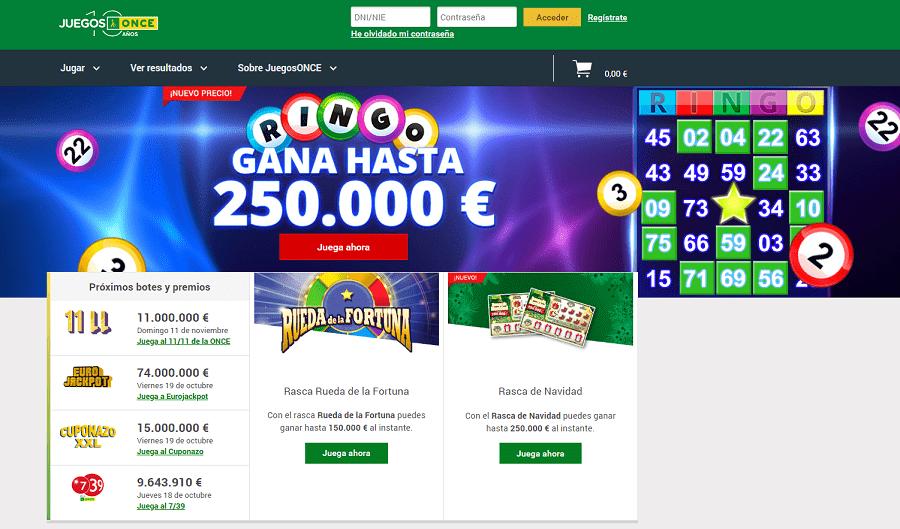Gran bono de bienvenida buscar numero de loteria nacional 2019-275799