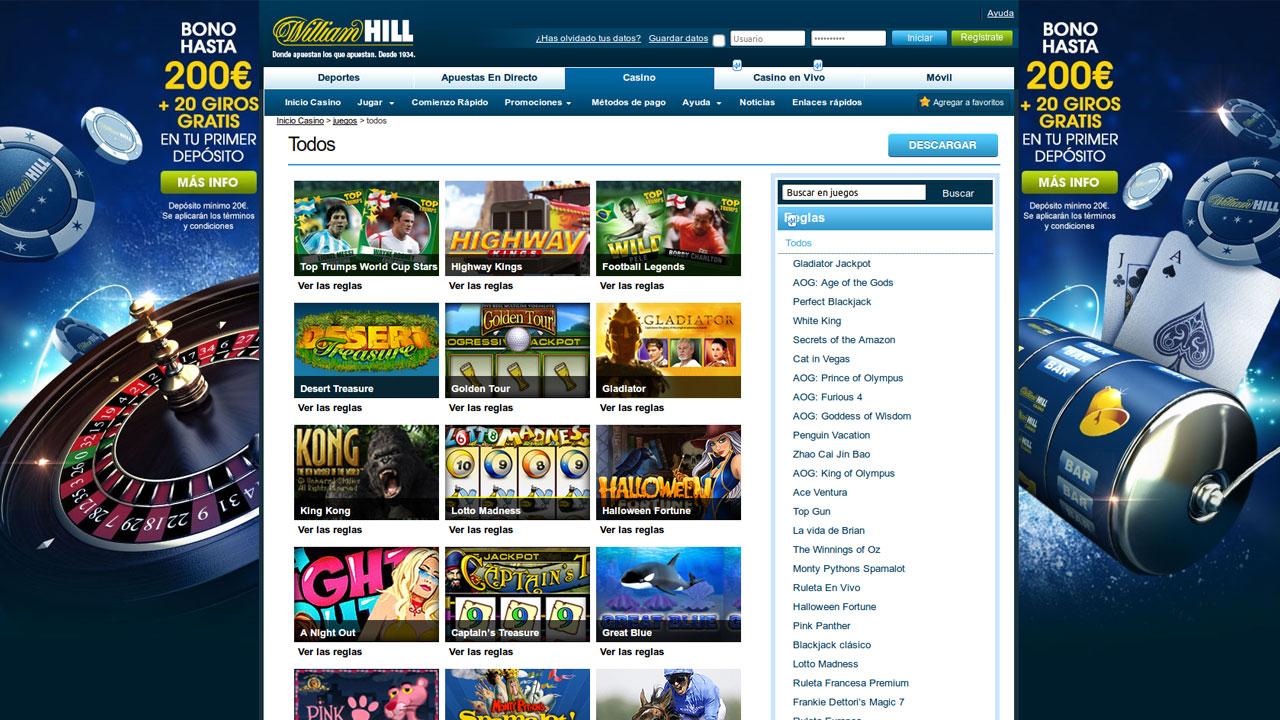 Juegos no se requiere descarga hill williams casino-336251