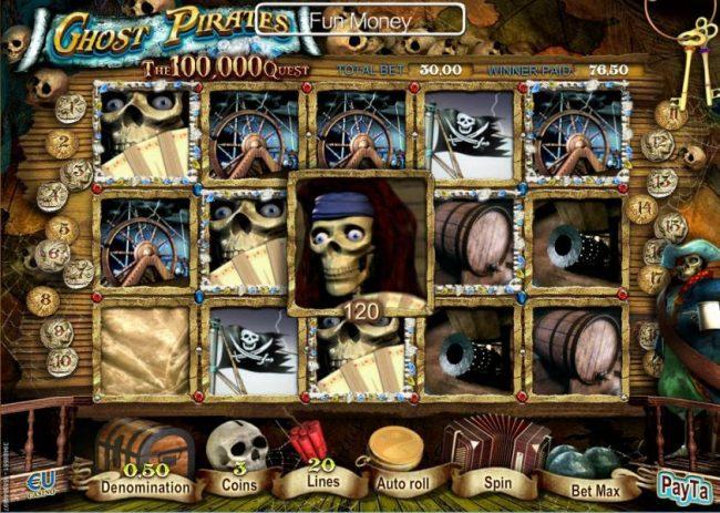3 tiradas gratis en Ghost Pirates maquinas tragamonedas de 50 lineas-674146