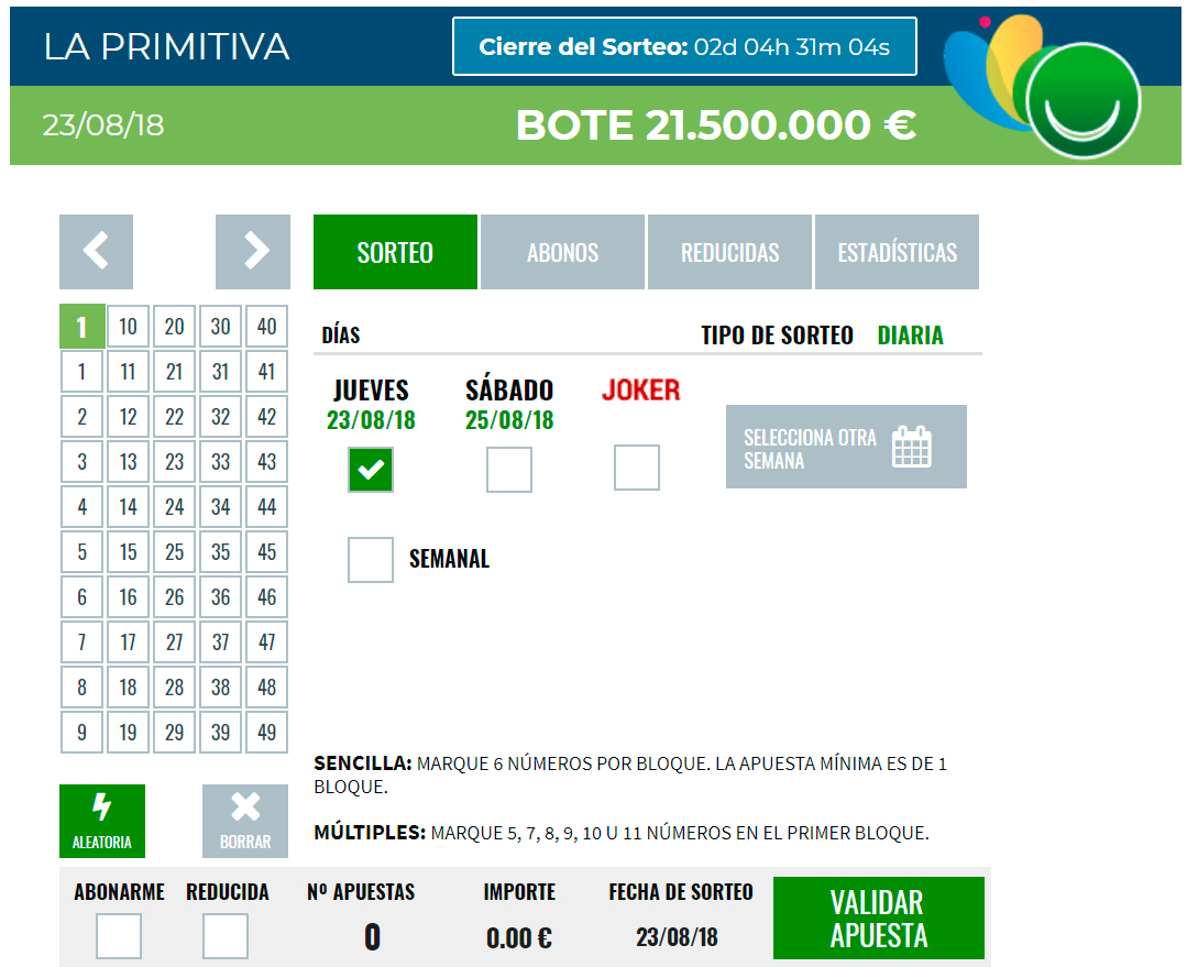 Apuestas on line como jugar loteria Madrid-858304