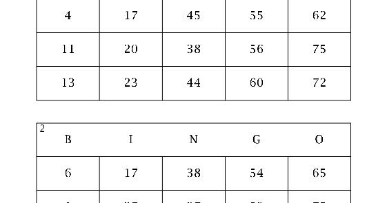 Bingo cartones casino Jackpot City-152330