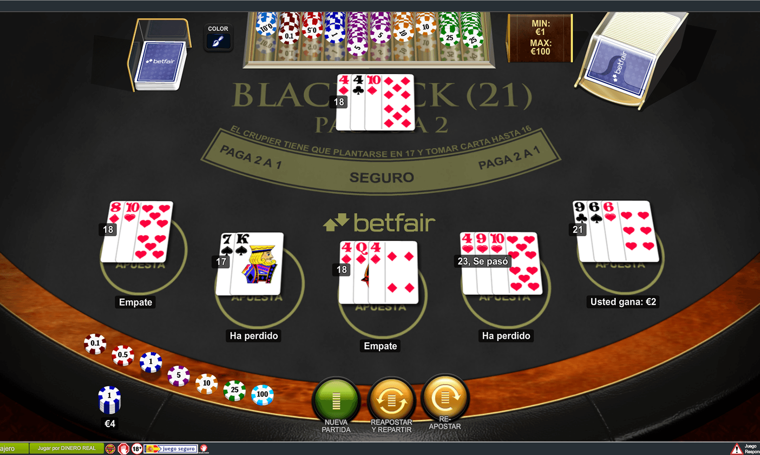 Casino online real 50€ gratis BETFAIR-215628