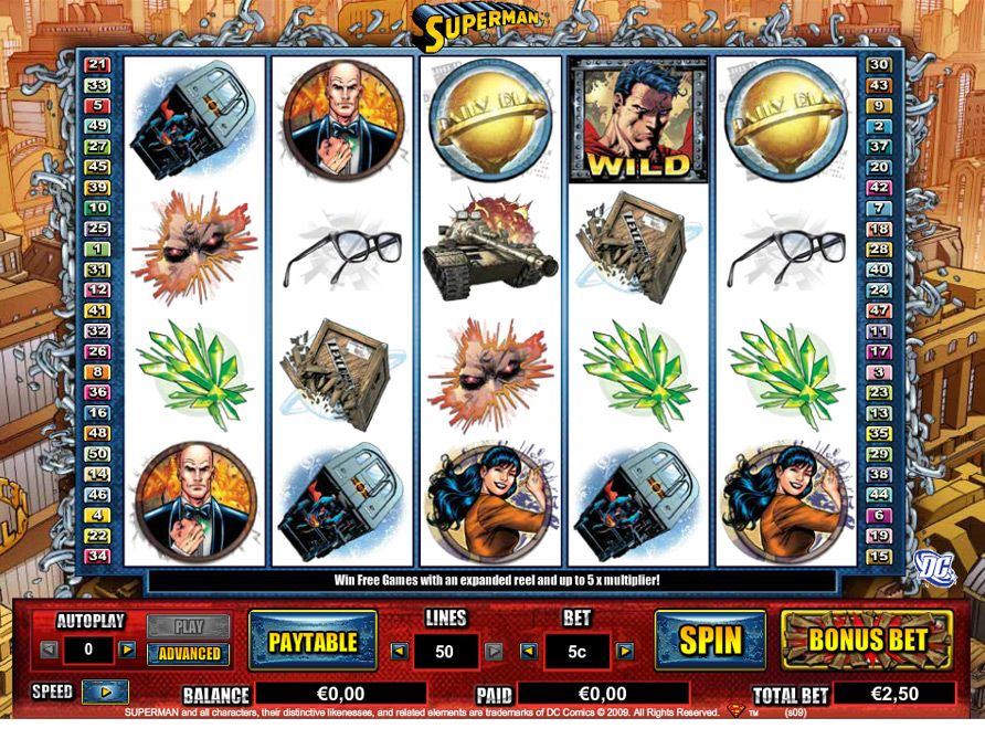 Party poker deportes clark slot Superman-310520
