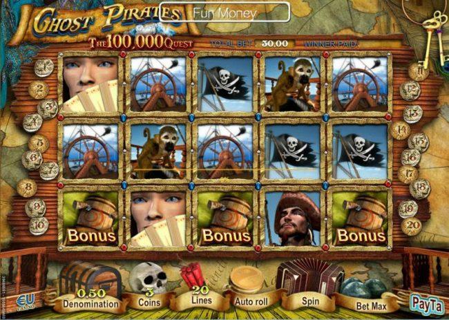 3 tiradas gratis en Ghost Pirates maquinas tragamonedas de 50 lineas-475268