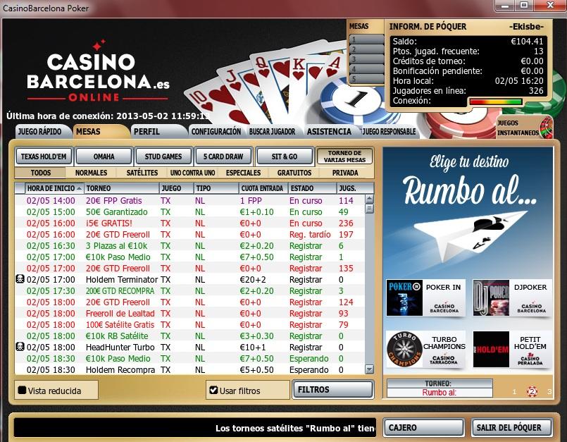 Juegue con € 100 gratis torneos de poker casino peralada-289937