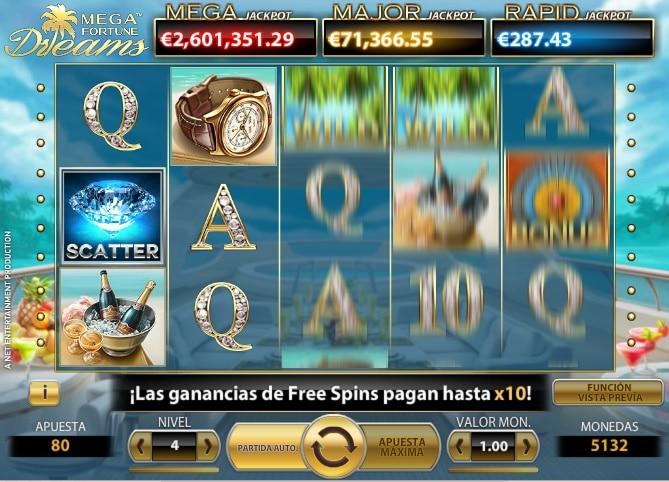 Nombres de maquinas tragamonedas tragaperra Mega Fortune Dreams-414021